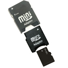 128MB Micro SD Card+ TF Card to MiniSD Card Adapter, 128MB MINISD Card For Cellphone