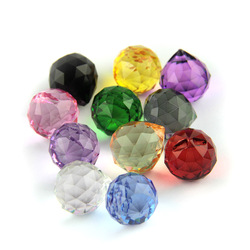 K9 Crystal Hanging Ball 15mm/20mm/30mm/40mm Glass prism Feng Shui Faceted Ball Tree Wedding Parting Hotel Decoration