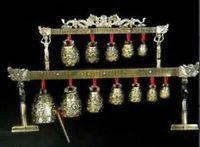 38*23cm Height old handwork Brass bells Chinese Tibet dragon glockenspiel copper craft tools wedding Decoration Brass
