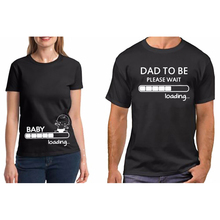Couple T Shirt Couple Clothes Pure Cotton Pregnancy  Baby Loading Dad To Be Shirt Funny Valentine Gift for Dad TShirt Plus Size best dad tshirt funny design father day t shirt 100% cotton fashion gift t shirt eu size