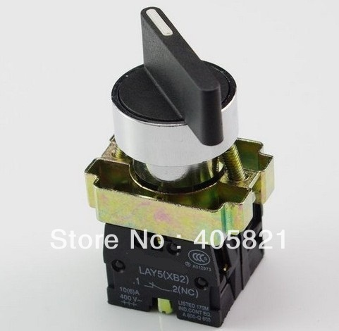 1N/O+1N/C long Handle 2 Position Maintained Select Selector Push Button Switch XB2BJ25C Mouting Hole 22mm