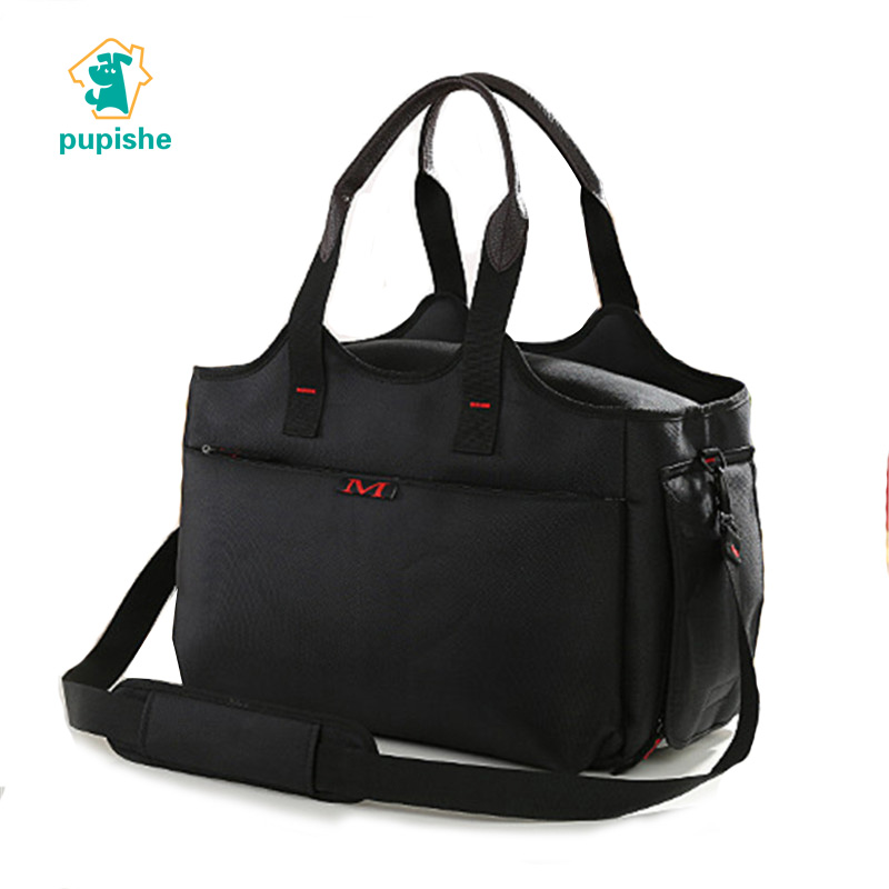 Dog Carrier Bags Black Airline Approved Portable Travel Dog Carriers Purse Durable Oxford Breathable Tote Bag