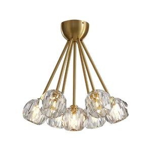 Image 3 - Yeni kristal modern avize abartılı bakır İskandinav restoran oturma odası yatak odası dekorasyon lamba