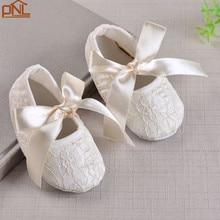 Осень Мягкой Подошве Новорожденных Девочек 3 Цвет Обуви Милые Ботинки Крещение Крещение Обувь