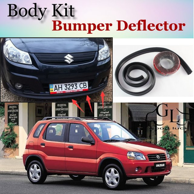 Bumper Lip Deflector Lips For Suzuki Ignis Front Spoiler Skirt TG Friends Car View Tuning