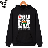 BTS California Hooded Hoodies Men Sweatshirt Winter Fashion USA California Flag Hoodies Men Plus Size 4XL