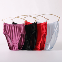 100 Mulberry Silk Ladies Woman Seamless Panties High Waist Briefs Multi Color Non Trace Female Women