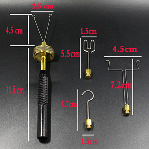 Image 2 - Royal Sissi fly tying Dubbing Spinner with 4 head attachments Brass ball bearing loop Dubbing twister delux fly tying tools