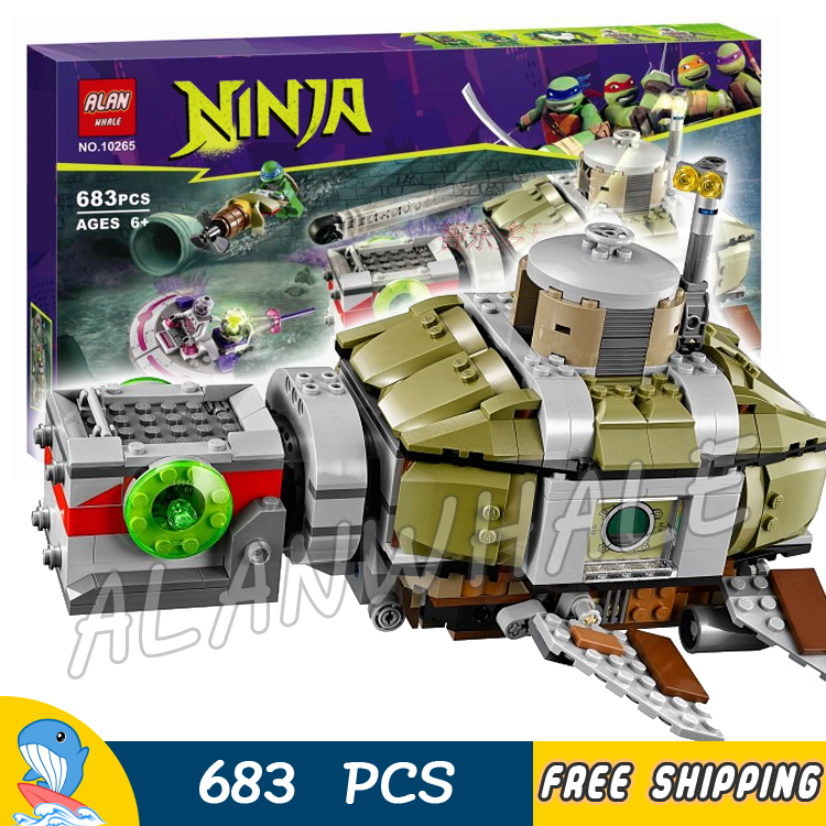 683pcs Ninja Sub Undersea Chase Submarine U-boat 10265 DIY Model Building Blocks Children Toys Boat Bricks Compatible with Lego 12 style one piece diamond building blocks going merry thousand sunny nine snakes submarine model toys diy mini bricks gifts