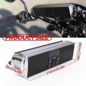 Image 2 - Universal Motorcycle Audio Waterproof Motorcycle bluetooth MP3 USB FM Speaker Sound System  Radio Stereo Speaker
