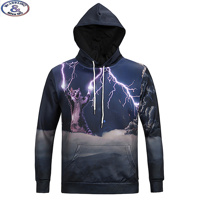 15-20 years teens brand hooded sweatshirt boys super cat 3D printed hip hop drawsting hoodie Autumn winter style hoody MH17
