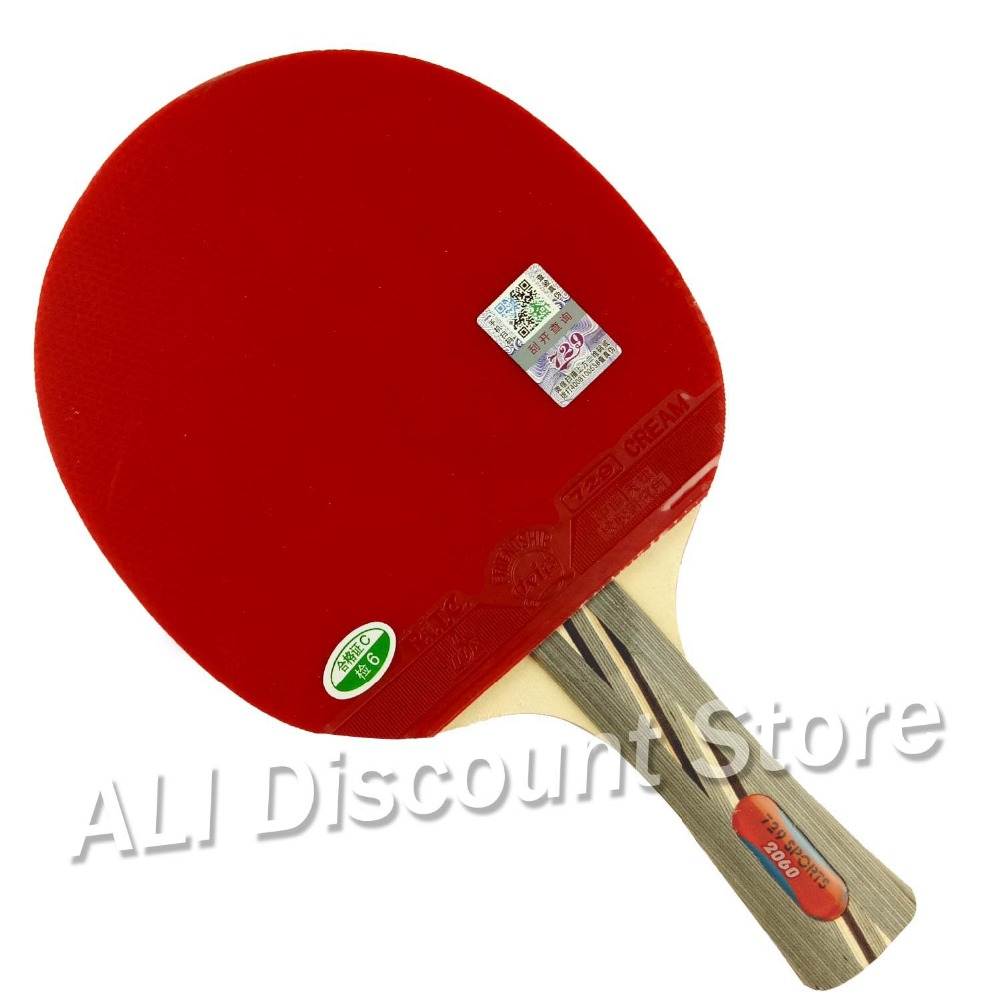 RITC 729 Friendship 2060# Pips-In Table Tennis Racket With Case For PingPong Shakehand Long Handle FL