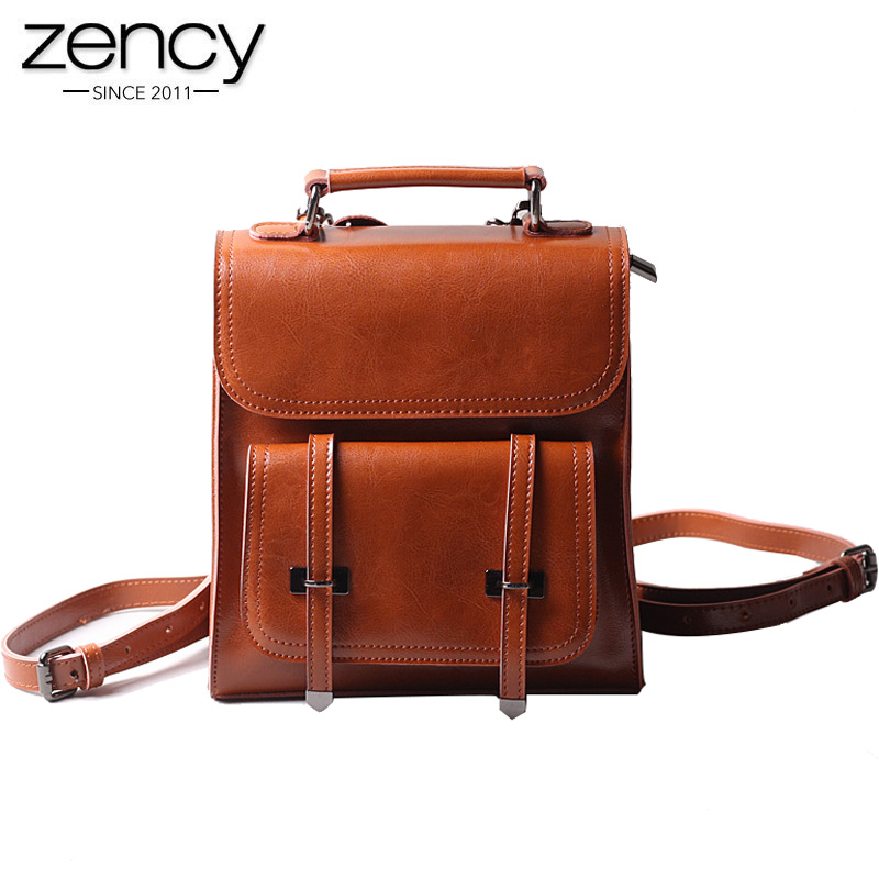 New Special Women leather backpack Fashion Vintage shoulder square bags for famale Valentine's Day best gifts to girl travel bag