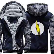 2019 winter warm clothes hoody Sheldon Cooper super hero thick jacket the flash cosplay sweatshirt men harajuku wool liner coats