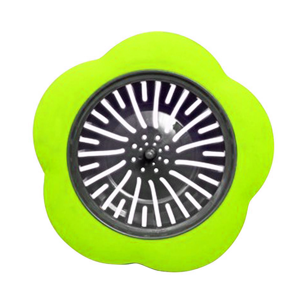 Flower Shaped Silicone Sink Strainer Shower Sink Strainer Floor Drain Anti-clogging Filter 5
