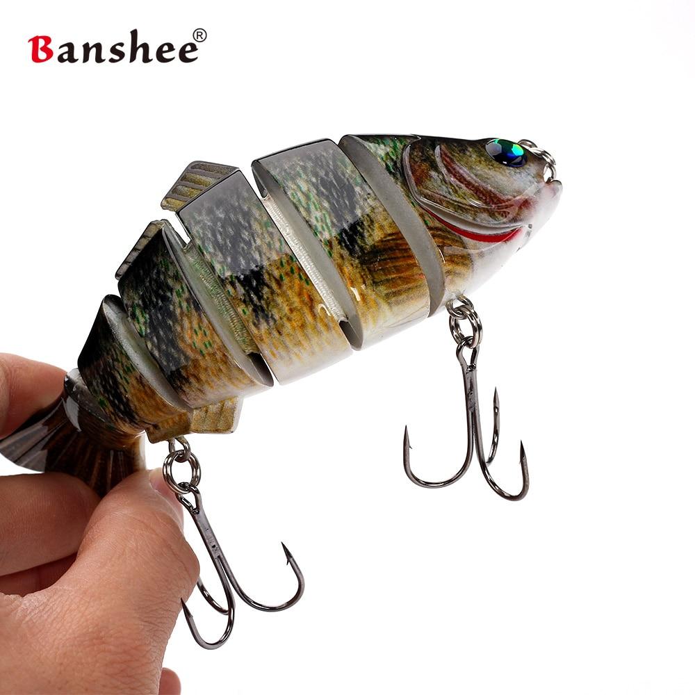 Banshee 140mm 53.5g VSJ06-6 Wobblers pike perch muskie Fishing Lure 6 sections Multi Jointed Lifelike fishing lure Swimbait