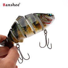 Banshee 140mm 53.5g  VSJ06-6 Wobblers pike perch muskie Fishing Lure 6 sections Multi Jointed Lifelike fishing lure Swimbait