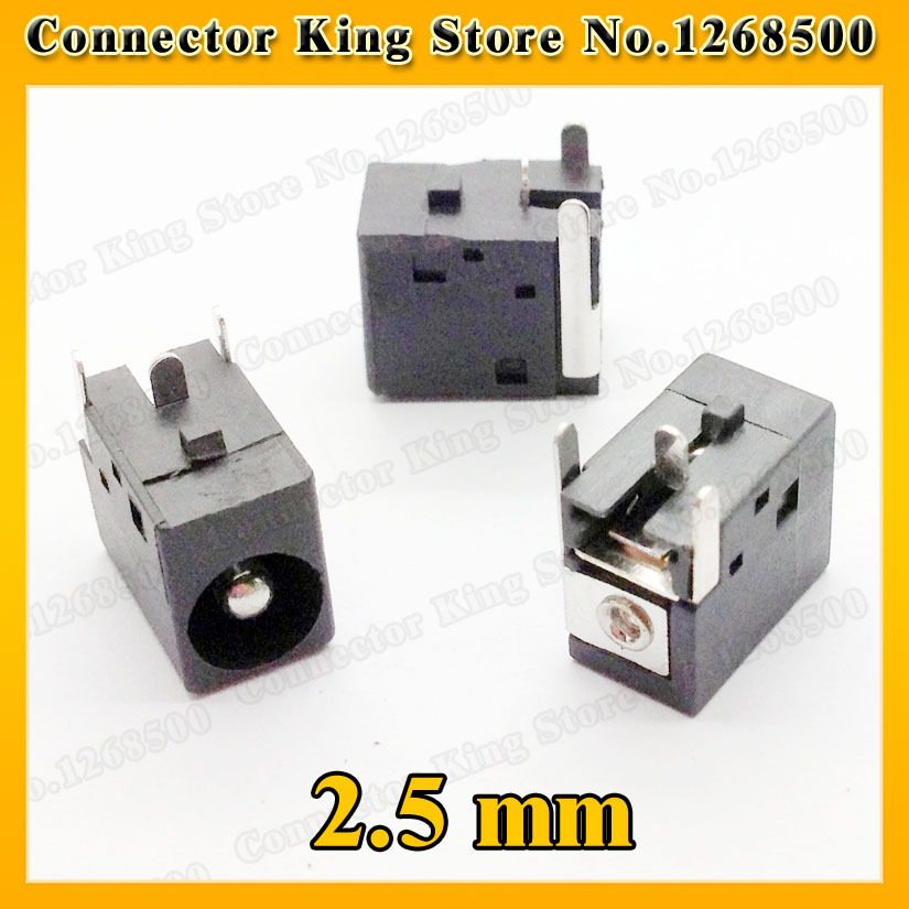 CK   1 Piece DC power jack 2.5 mm center pin for HP/Acer /Compaq/Gateway/Armada/...DC-006 100pcs lot dc power panel jack with 2 1mm center pin