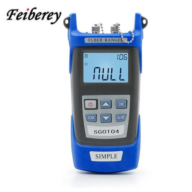 Handheld Simple OTDR 60km Optical Fiber Ranger 1310/1550nm SM Mini OTDR Optical Cable Breakpoint Locator Fiber Ranger with VFL
