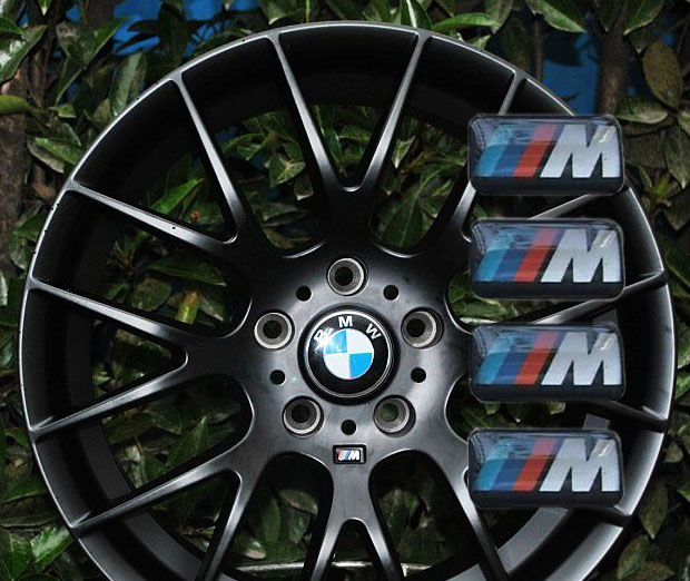 4pcs Bmw M Wheel Sticker Badge Replacement M3 M5 M6