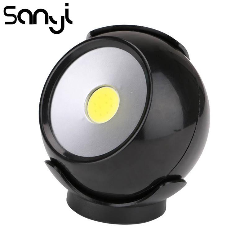 SANYI 3 Lighting Modes Night Light Portable Lamp LED COB Working Light Flashlights Power By 3 X AAA Battery Lantern For