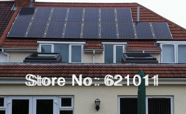 3kW solar home system, grid tie solar power system includes 3kw solar panels and 3000w on grid solar inverter