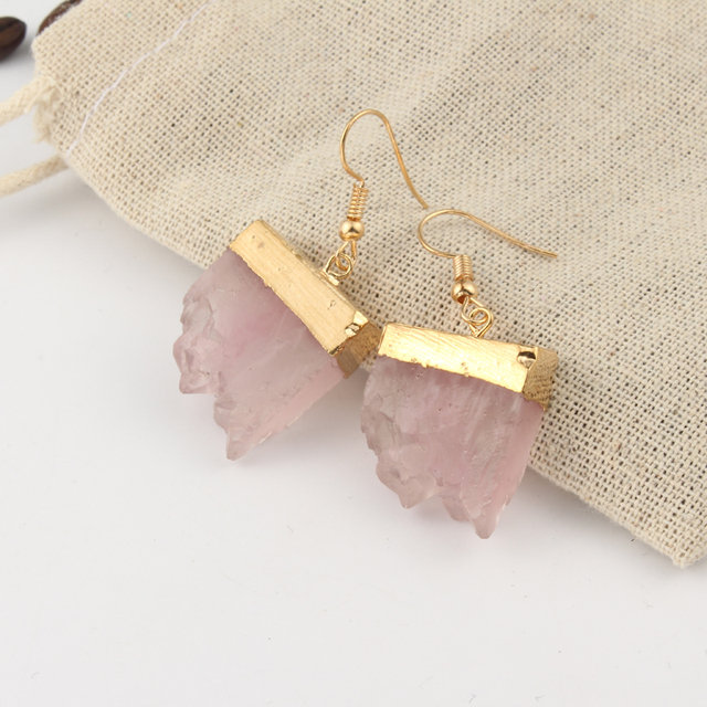 Dayoff Boho Pink Green Handmade Earings For Women Jewelry Unique Resin Irregular