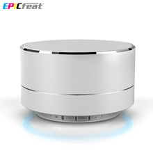 EPiCfeat Portable Bluetooth Wireless Mini Speaker with Microphone Handfree Call FM radio LED TF Card Loudspeaker A10