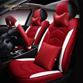 6D Styling Cubierta de Asiento de Coche Para Porsche Panamera Cayenne SUV 911 Caimán Macan, Cuero de Alta fibra, Coche-cubre