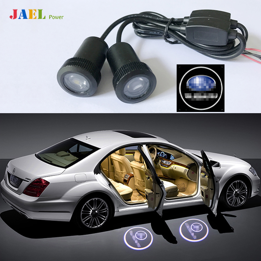 2PCs Car Door Ghost Shadow Light Courtesy Laser Projector Puddle lights Case For SUBARU