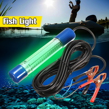 Smuxi 8W Underwater LED Light Bulb Tube 180leds Green Submersible Boat Night Fishing Fish Attracting Light Squid Lamp DC12V~24V