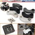De Alumínio da motocicleta Espelhos Extensão Adaptador Deslocalização Kit Para BMW F650GS F700GS F800GS/R K1200R K1300R HP2-Megamoto S1000XR/R