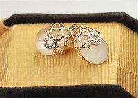 ювелирные изделия moonrocy бесплатная доставка розовое золото цвет кубического циркония водослива опал комплект ювелирных изделий цепочки и ожерелья и серьги для женщин подарок для