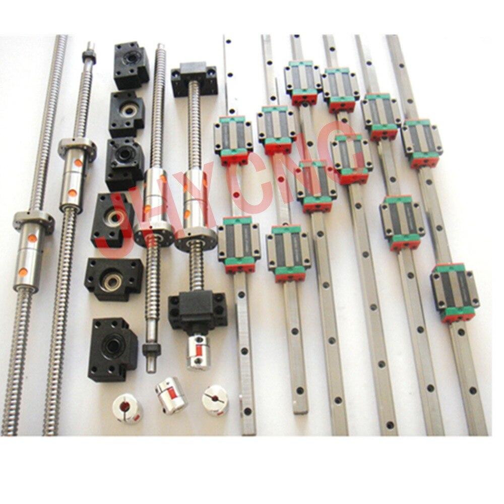 3 компл. линейный рельс профиль + 4 ШВП DFU1605 + 4 комплекта BK/BF12 + 4 ballut корпуса + 4 муфты