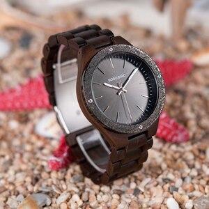 Image 3 - BOBO BIRD Watch Men Quartz Wooden Wristwatches Top Brand Luxury Mens Watches in Wooden Box relogio masculino Great Mens Gift