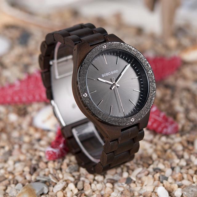 Men's Wood And Metal Watch