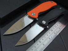 Best quality Custom Mirror surface knife F3 Tactical knife D2 blade G10 Handle Camping Folding Knife Outdoor Pocket tool Knives