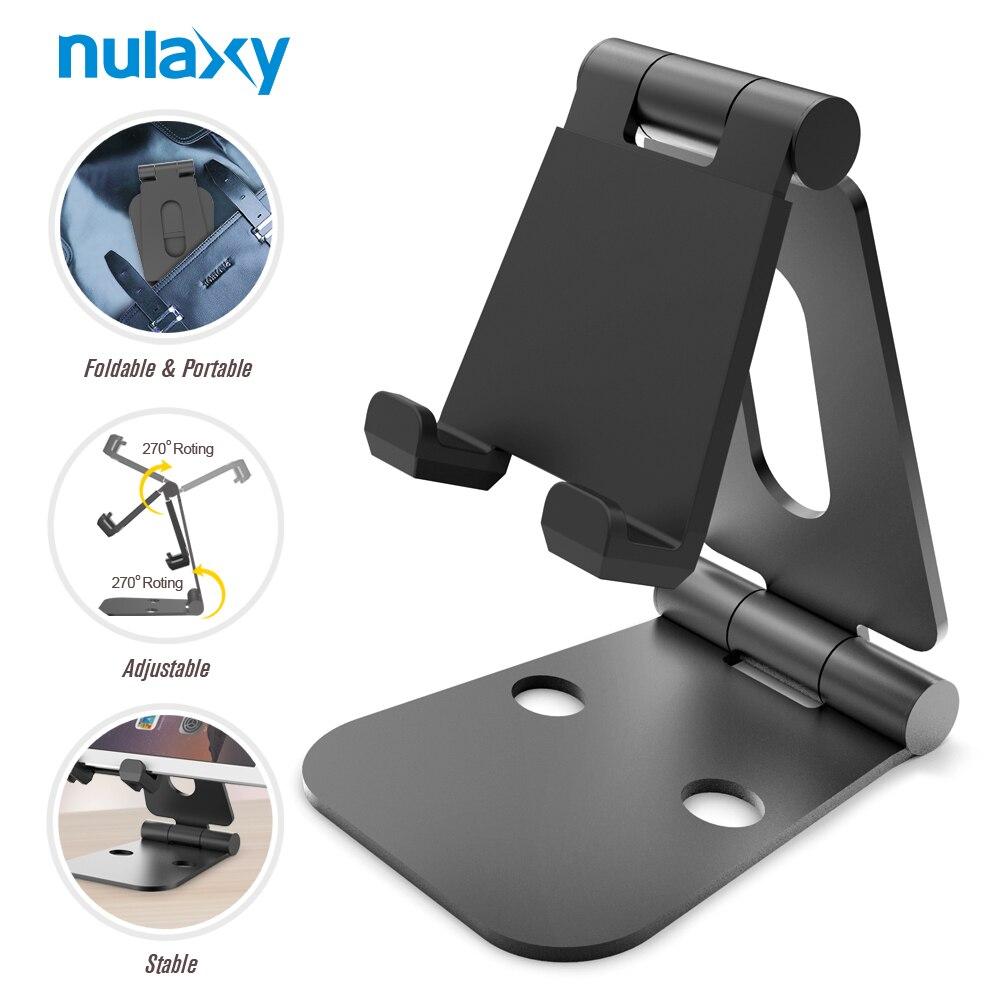 imágenes para Nulaxy Escritorio Universal Mobile Soporte Del Teléfono Del Sostenedor Del Teléfono para el iphone Escritorio Del Sostenedor Del Soporte plegable para Samsung Xiaomi S8 Tablet iPad PC