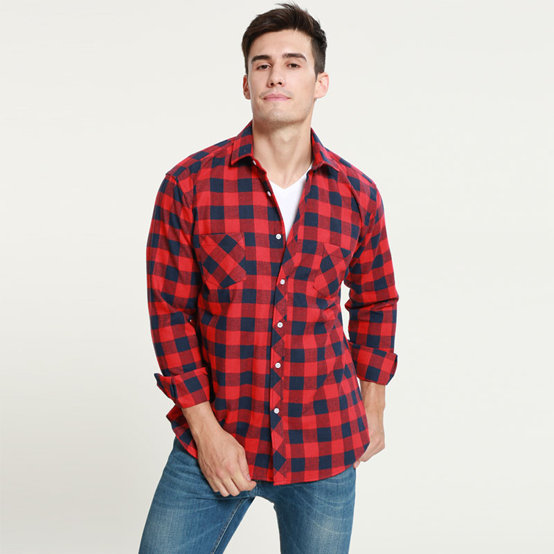 2018 Men Shirts Long Sleeve Slim Fit Mens Casual Shirts ...