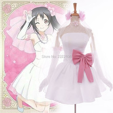 Cheap Hot Sale Girls Anime Love live Cosplay Tojo Nozomi Costume Women's Dress Bridesmaid Dress Gown Rode Evening Ladies Dress