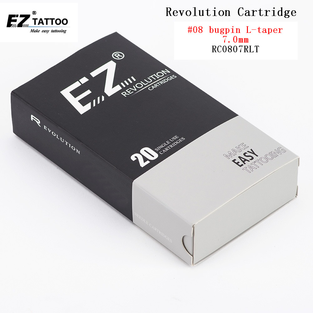 RC0803RLT EZ New Revolution Tattoo Needles Cartridge Round Liners 08 0 25 mm for cartridge machine and grips 20 pcs box in Tattoo Needles from Beauty Health