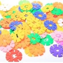 Variety Snowflake Block Toys Assembled Bulk Digital Gear Snowflake Blocks Child Construction Fragment Puzzle Letter Blocks snowflake