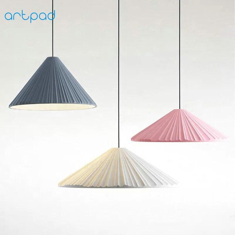 Artpad Modern Nordic Pendant Lights Resin Lampshade White Blue Pink LED Bar Pendant Lamp For Children Bedroom Living Room цена