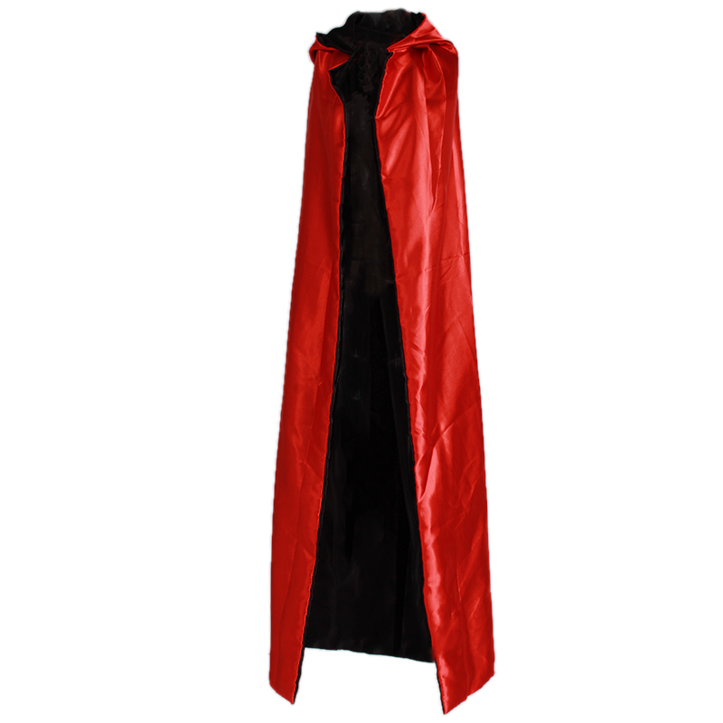 Black Red Halloween Cosplay Costume Theater Prop Death Hoody Cloak Devil Mantle AB Wear Long Tippet Adult Hooded Cape HO873748