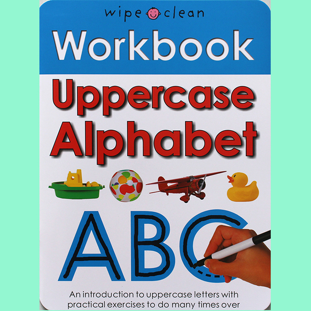 10Books/set Wipe Clean Workbook Children English Writing Book Times Tables Maths Number Skill Tricky Phonics Words Alphatbet ABC 4