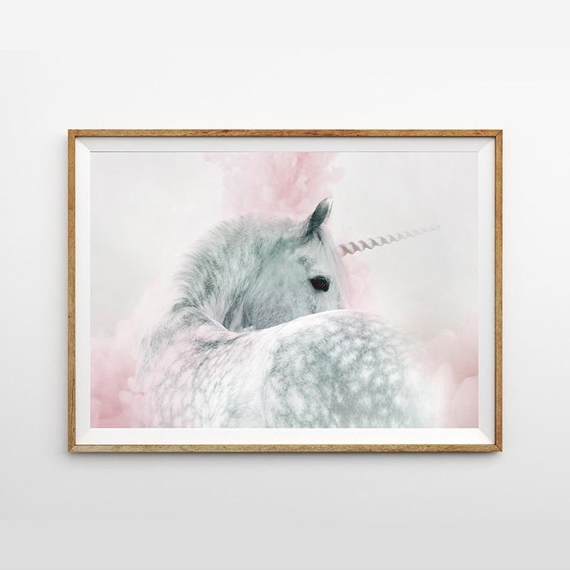 Unicorn Print abstract unicorn painting nursery print girls bedroom decor
