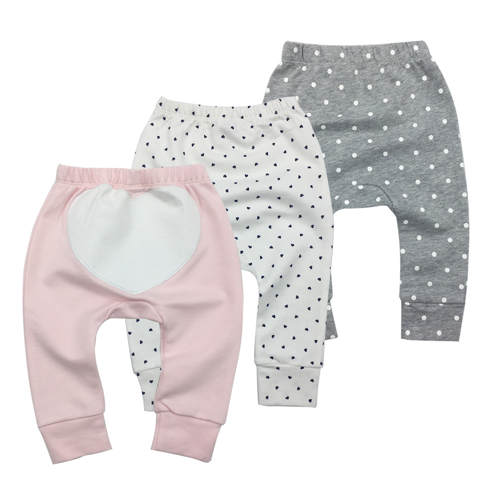 Baby Clothes Baby Pants 3 Pieces Cartoon Toddler Boy Girl Leggings Full Length Elastic Waist Kids Pant Trousers