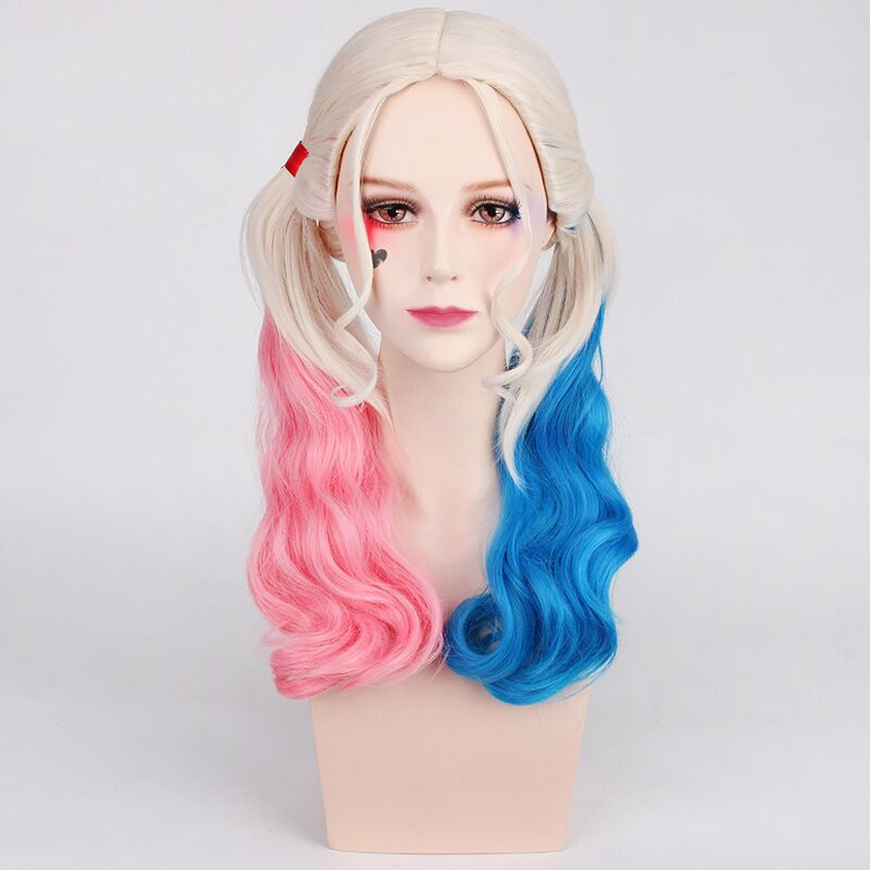 Suicide Squad Batman Joker Harleen Quinzel  Harley Quinn Wig Cosplay Costume Women Hair Halloween Party Wigs
