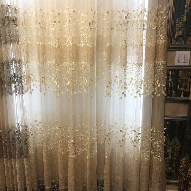 Dining Room Window Curtains: European Window Curtain Tulles For Living Dining Room