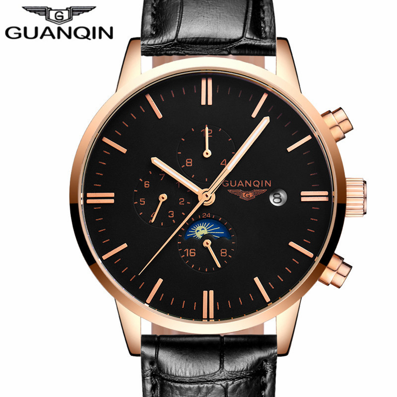 2017 New   Brand Luxury Automatic Date Clock Male Mechanical Watch Men Sport Leather Watches Relogio Masculino new forcummins insite date unlock proramm